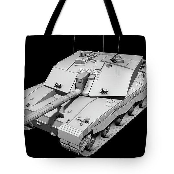 Clay Render Of A Challenger II Tank Tote Bag by Rhys Taylor