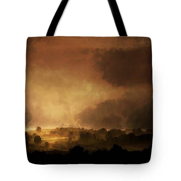 Clearing Storm Tote Bag by Ron Jones