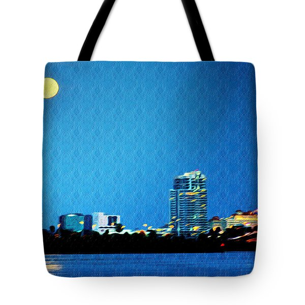 Clearwater at Night Tote Bag by Bill Cannon