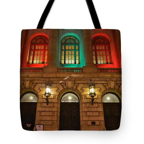 Cleveland Courthouse Tote Bag by Frozen in Time Fine Art Photography