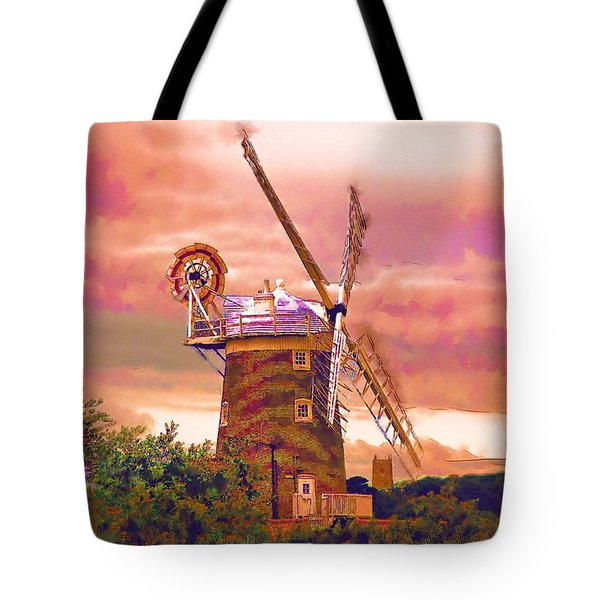 Cley Windmill 2 Tote Bag by Chris Thaxter