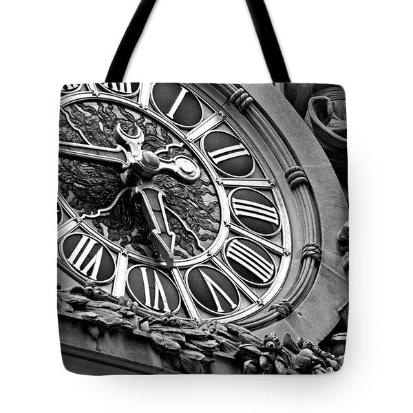 Clock Face Tote Bag by ArtyZen Studios