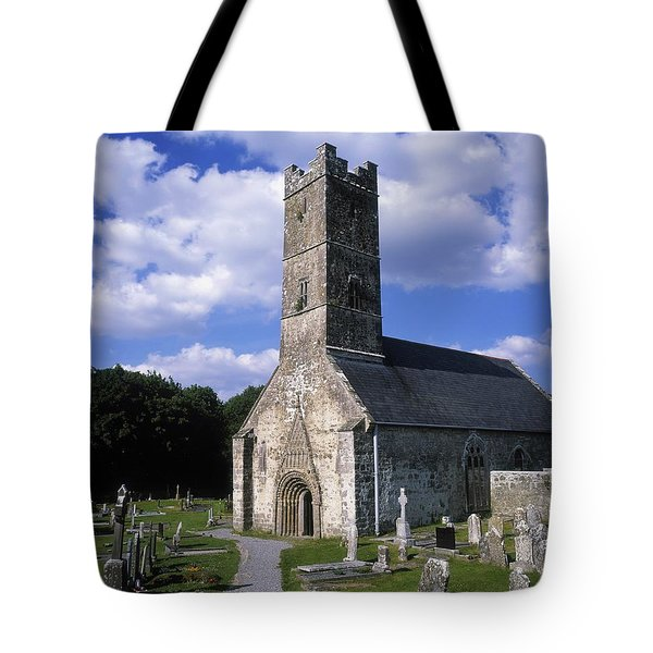 Clonfert Cathedral, Clonfert, Co Tote Bag by The Irish Image Collection