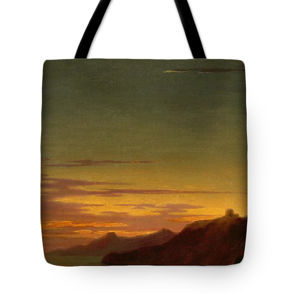 Close Of The Day - Sunset On The Coast Tote Bag by Alexander Cozens