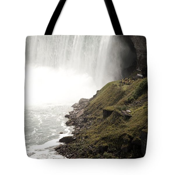 Close To The Falls Tote Bag by Amanda Barcon