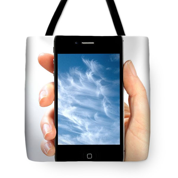 Cloud Computing Tote Bag by Photo Researchers