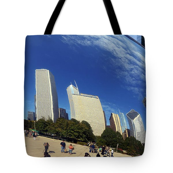Cloud Gate Millenium Park Chicago Tote Bag by Christine Till