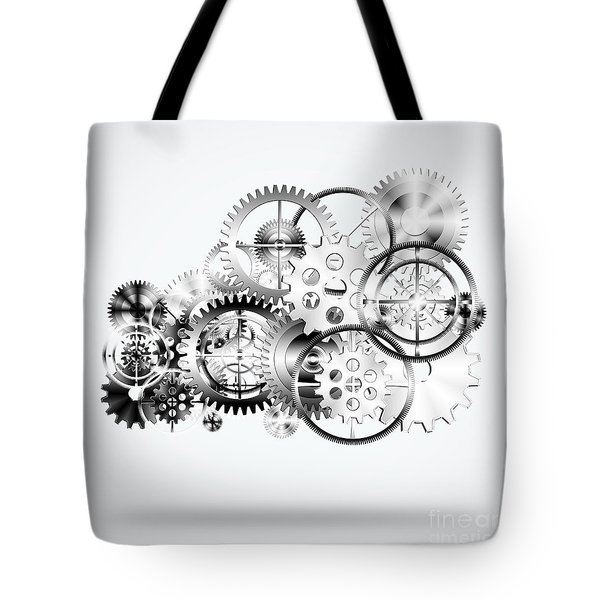 Cloud Made By Gears Wheels  Tote Bag by Setsiri Silapasuwanchai
