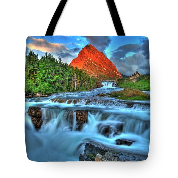Clouds And Waterfalls Tote Bag by Scott Mahon