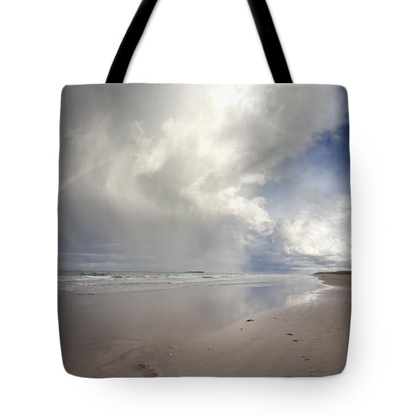 Clouds Reflected In The Shallow Water Tote Bag by John Short