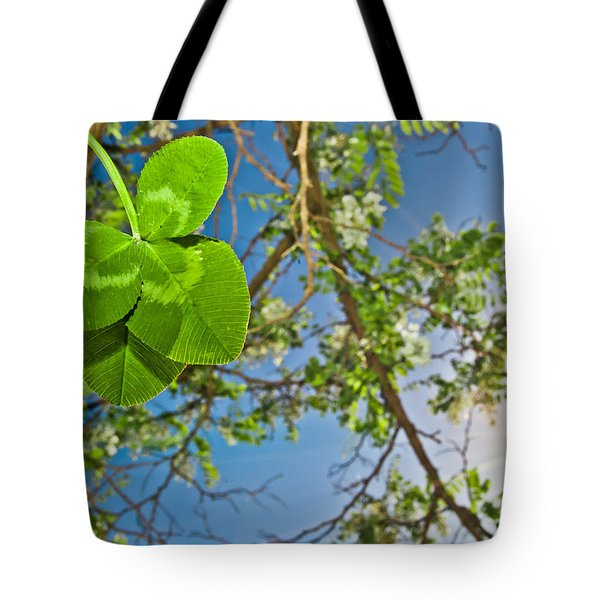 Clover And Sunflare 1 Tote Bag by Amber Flowers