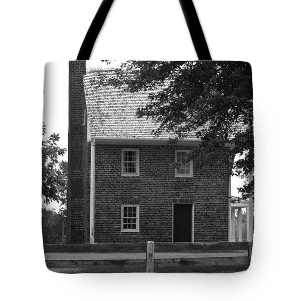 Clover Hill Tavern Guesthouse BW Tote Bag by Teresa Mucha