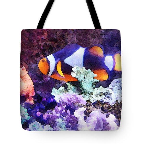 Clownfish And Coral Tote Bag by Susan Savad
