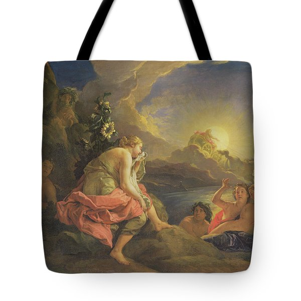 Clytie Transformed Into A Sunflower Tote Bag by Charles de Lafosse