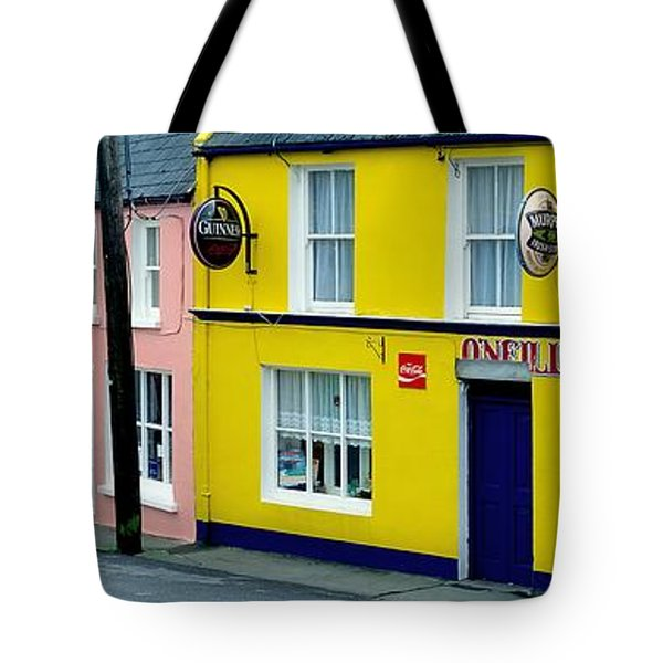 Co Cork, Eyeries Village In The Rain Tote Bag by The Irish Image Collection