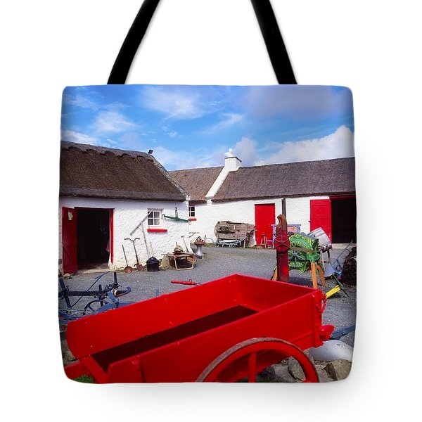 Co Donegal, Ireland Cottage Near Tote Bag by The Irish Image Collection