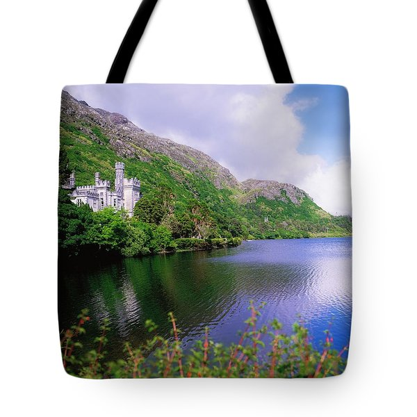 Co Galway, Ireland, Kylemore Abbey Tote Bag by The Irish Image Collection