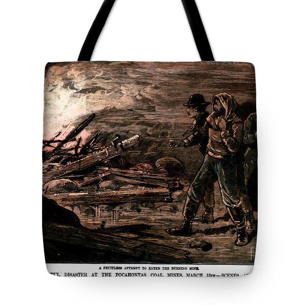 Coal Mine Explosion, 1884 Tote Bag by Granger