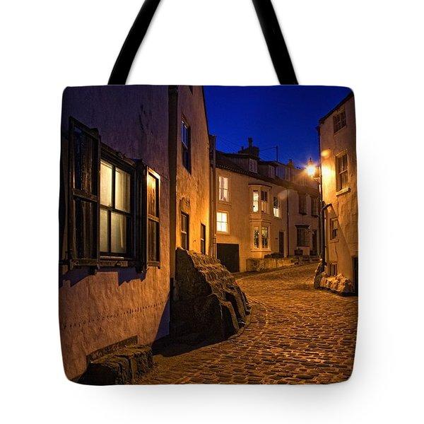 Cobblestone Road, North Yorkshire Tote Bag by John Short