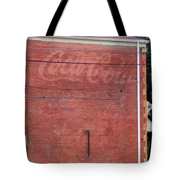 Coca Cola Faded Tote Bag by Denise Keegan Frawley