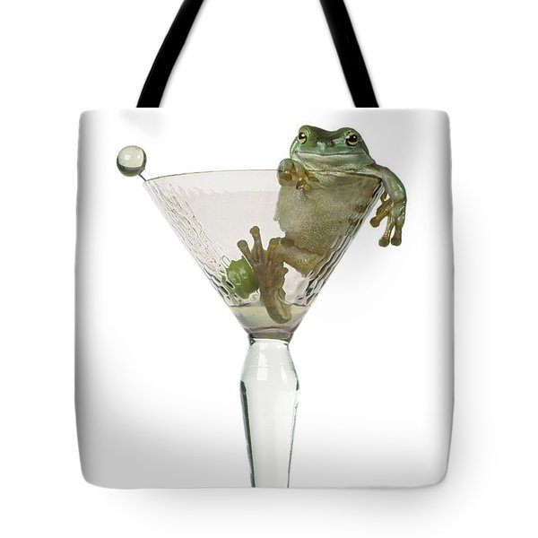 Cocktail Frog Tote Bag by Darwin Wiggett
