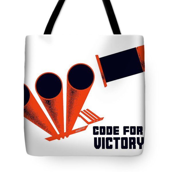 Code For Victory Tote Bag by War Is Hell Store
