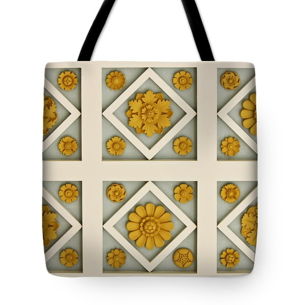 Coffered Ceiling Detail at Getty Villa Tote Bag by Teresa Mucha