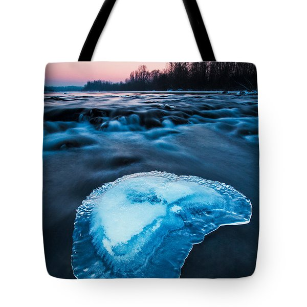 Cold Blue Tote Bag by Davorin Mance