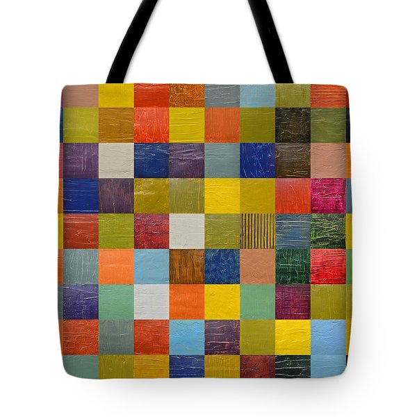 Collage Color Study 108 Tote Bag by Michelle Calkins