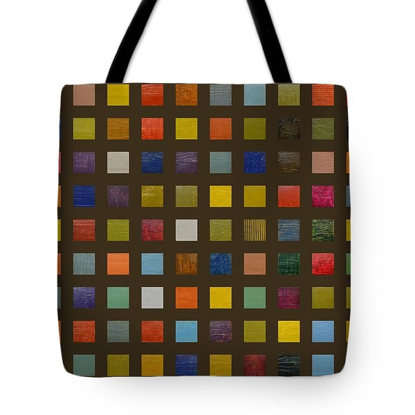Collage Color Study Lll Tote Bag by Michelle Calkins