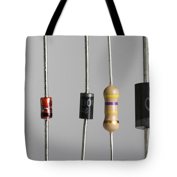 Collection Of Electronic Components Tote Bag by Photo Researchers