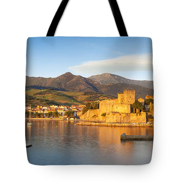 Collioure At Dawn Tote Bag by Brian Jannsen