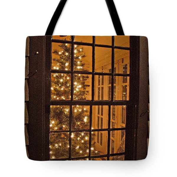 Colonial Christmas Tote Bag by Joann Vitali