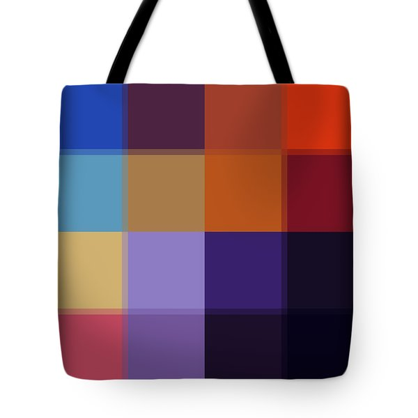 Color Block Colorful I By Madart Tote Bag by Megan Duncanson