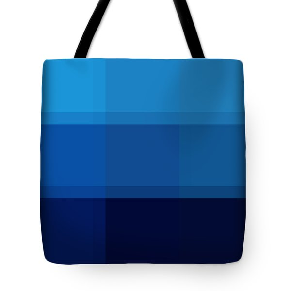 COLOR BLOCK Dark Blues by MADART Tote Bag by Megan Duncanson