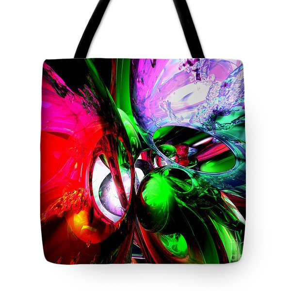 Color Carnival Abstract Tote Bag by Alexander Butler