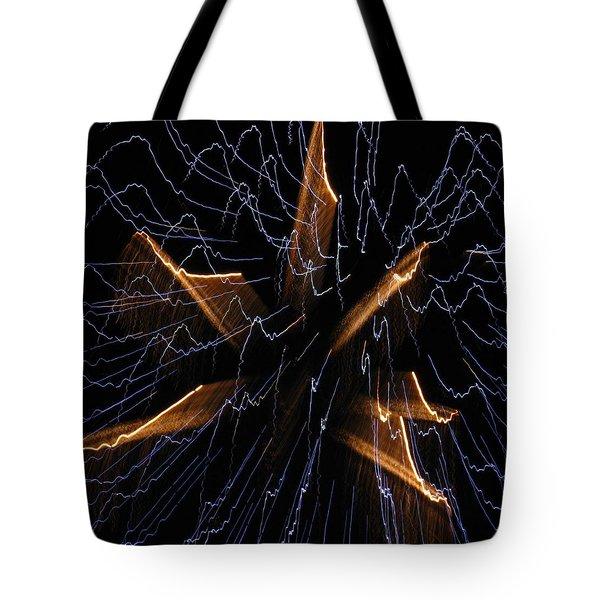 Color Me Electric Tote Bag by Rhonda Barrett