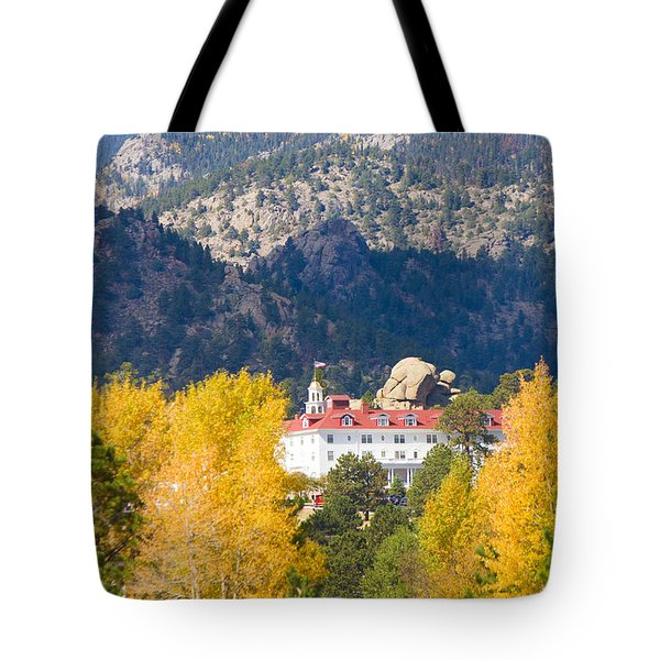 Colorado Estes Park Stanly Hotel Autumn View Tote Bag by James BO  Insogna