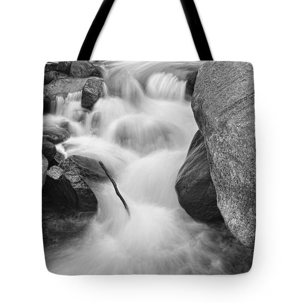 Colorado St Vrain River Trance Bw Tote Bag by James BO  Insogna
