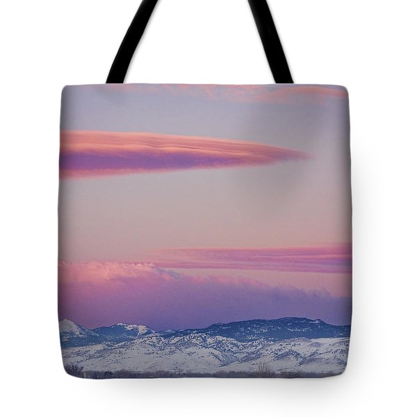 Colorado Winter Moon And Sunrise Tote Bag by James BO  Insogna