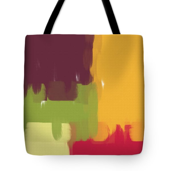 Colorblock Winter Tote Bag by Heidi Smith