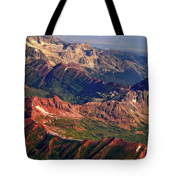 Colorful Colorado Rocky Mountains Planet Art Tote Bag by James BO  Insogna