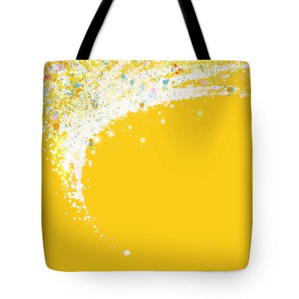 Colorful Curved Tote Bag by Setsiri Silapasuwanchai