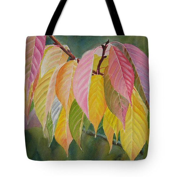 Colorful Fall Leaves Tote Bag by Sharon Freeman