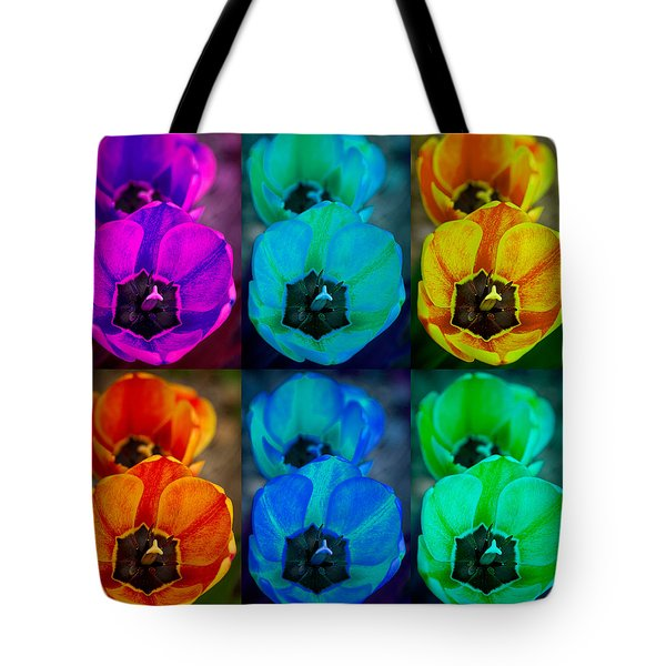 Colorful Tulip Collage Tote Bag by James BO  Insogna
