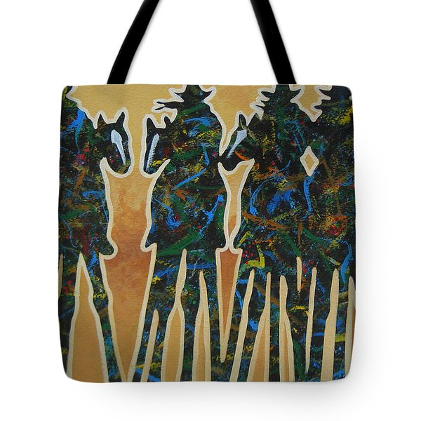 Colors Of Four Tote Bag by Lance Headlee