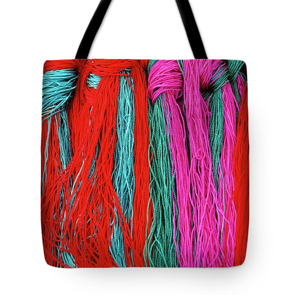 Colors of Tibet Tote Bag by Michele Burgess