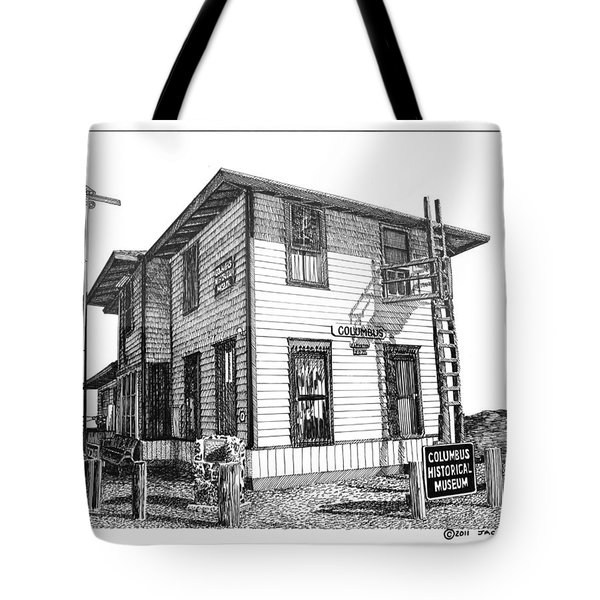 Columbus New Mexico  Tote Bag by Jack Pumphrey