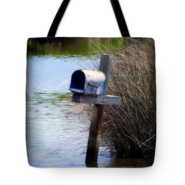 Come Rain or Shine or Boat Tote Bag by KAREN WILES