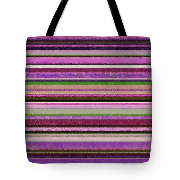 Comfortable Stripes lll Tote Bag by Michelle Calkins